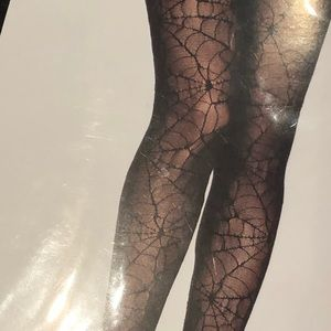Accessories - New Spiderweb Halloween Pantyhose